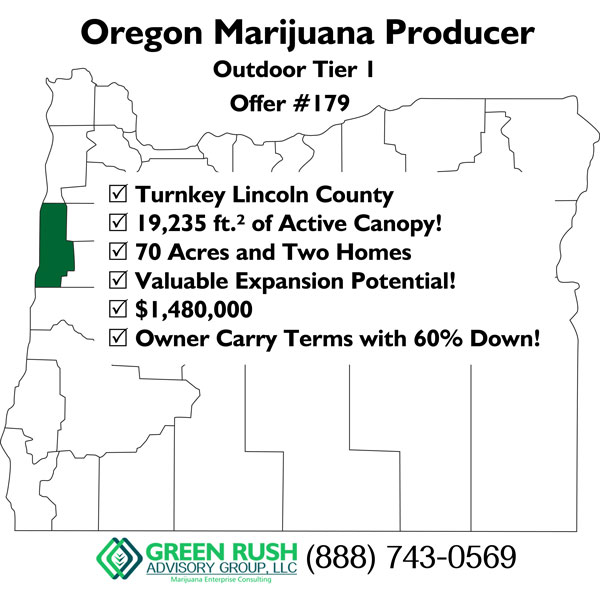 Oregon Marijuana Producer, Outdoor Tier 1 Offer 179 - Green Rush